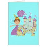 Brunette Princess Stationery Note Card