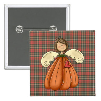 brunette pumpkin angel buttons