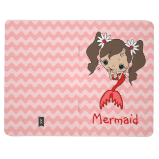 Brunette Red Mermaid Journal