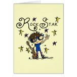 Brunette Rock Star Card