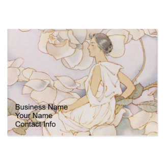 Brunette Rose Nymph in Garden Large Business Cards (Pack Of 100)