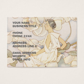 Brunette Rose Nymph | Rose Garden Business Card