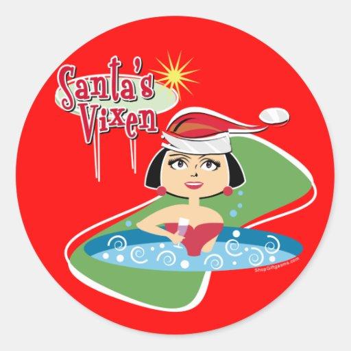 Brunette Santa's Vixen Sticker