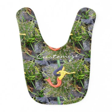 Beach Themed brunette sirena mermaid bib