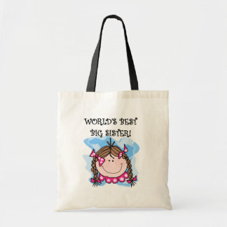 Brunette World s Best Big Sister Tshirts and Gifts Tote Bag