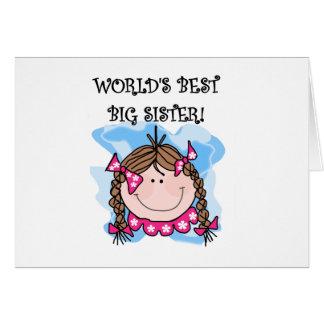 Brunette World's Best Big Sister Card