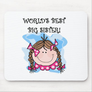 Brunette World's Best Big Sister Mouse Pad