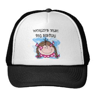 Brunette World's Best Big Sister Trucker Hat