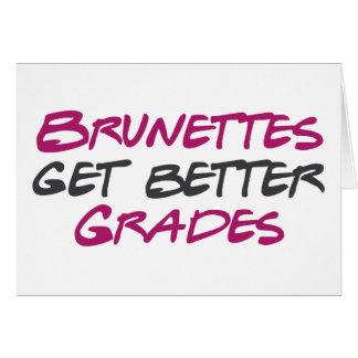 Brunettes Get Better Grades Cards