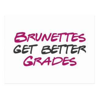 Brunettes Get Better Grades Postcards