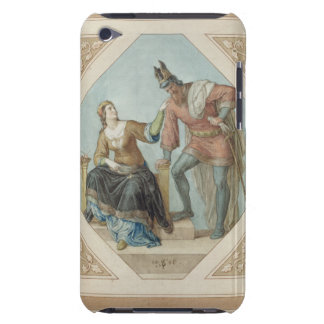 Brunhilde and Hagen, illustration for 'The Niebelu Barely There iPod Case