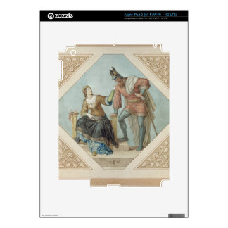 Brunhilde and Hagen, illustration for 'The Niebelu Decal For iPad 3
