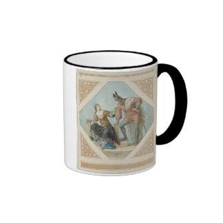 Brunhilde and Hagen, illustration for 'The Niebelu Ringer Mug