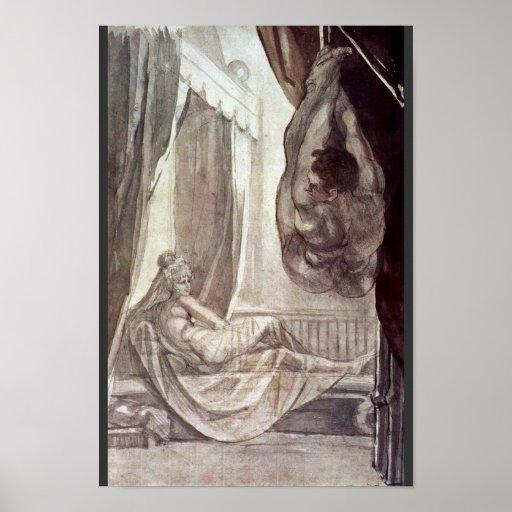 Brunhilde Observed Gunther,  By Füssli Johann Hein Posters