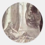 Brunhilde Observed Gunther,  By Füssli Johann Hein Sticker