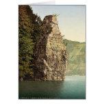 Brunnen, Schillerstein, Lake Lucerne, Switzerland Greeting Card