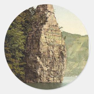 Brunnen Schillerstein Lake Lucerne Switzerland Stickers