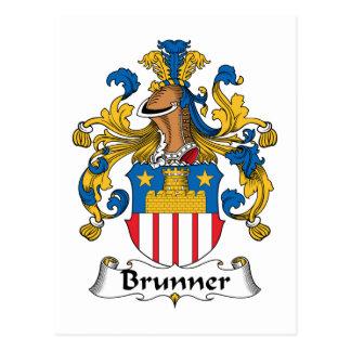 Brunner Family Crest Postcard