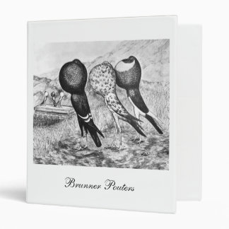 Brunner Pouter Pigeons 3 Ring Binder