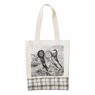 Brunner Pouter Pigeons Zazzle HEART Tote Bag