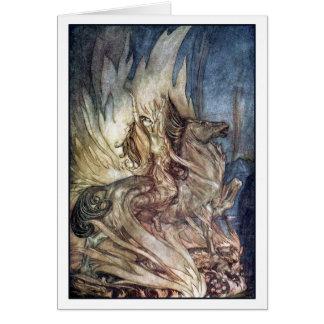 Brünnhilde on Grane Greeting Cards