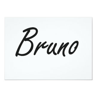 Bruno Artistic Name Design 5x7 Paper Invitation Card