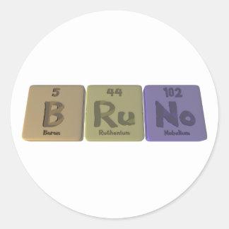 Bruno as Boron Ruthenium Nobelium Classic Round Sticker