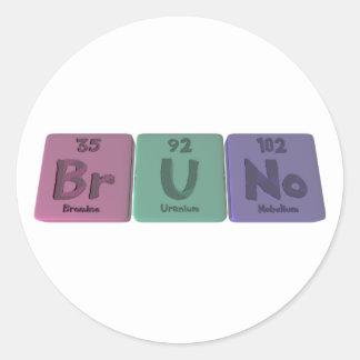 Bruno as Boron Uranium Nobelium Classic Round Sticker
