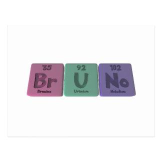 Bruno as Boron Uranium Nobelium Postcard