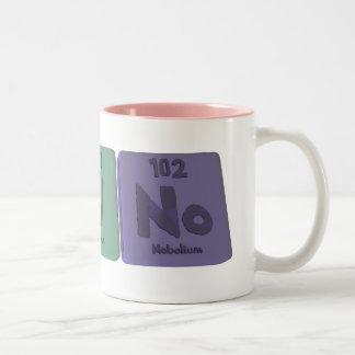 Bruno as Boron Uranium Nobelium Two-Tone Coffee Mug