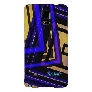 Bruno Blue Brown Tones Samsung Galaxy case