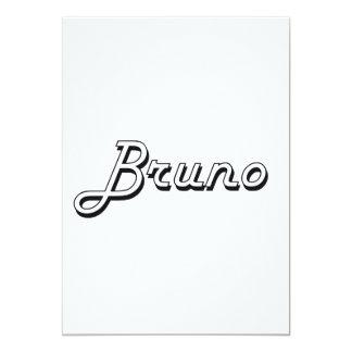 Bruno Classic Retro Name Design 5x7 Paper Invitation Card