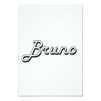 Bruno Classic Retro Name Design 3.5x5 Paper Invitation Card