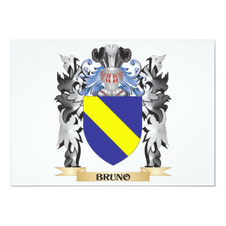 Bruno Coat of Arms - Family Crest 5x7 Paper Invitation Card