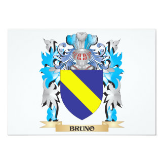 Bruno Coat of Arms 5x7 Paper Invitation Card