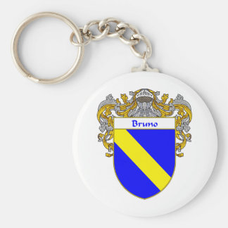 Bruno Coat of Arms (Mantled) Basic Round Button Keychain