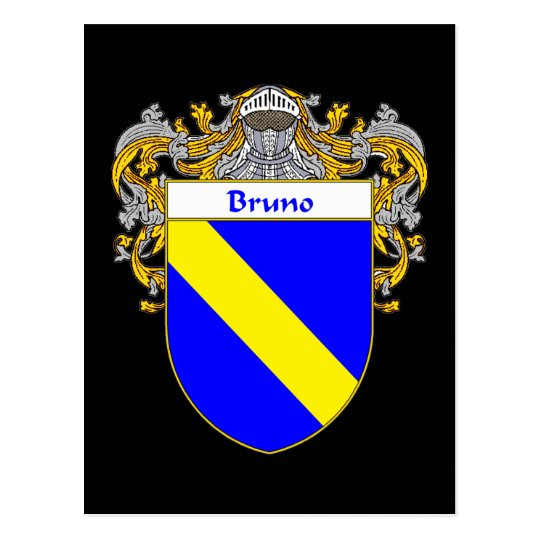 Bruno Coat of Arms (Mantled) Postcard