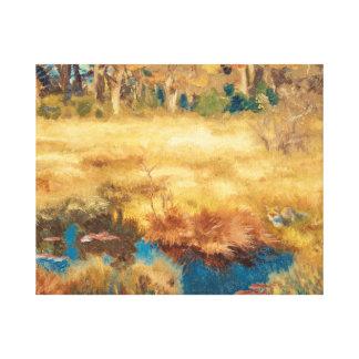 Bruno Liljefors - Autumn Landscape with Fox Canvas Print