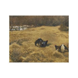 Bruno Liljefors - Black Grouse Displaying Canvas Print