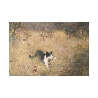 Bruno Liljefors - Cat Bird Hunting Canvas Print