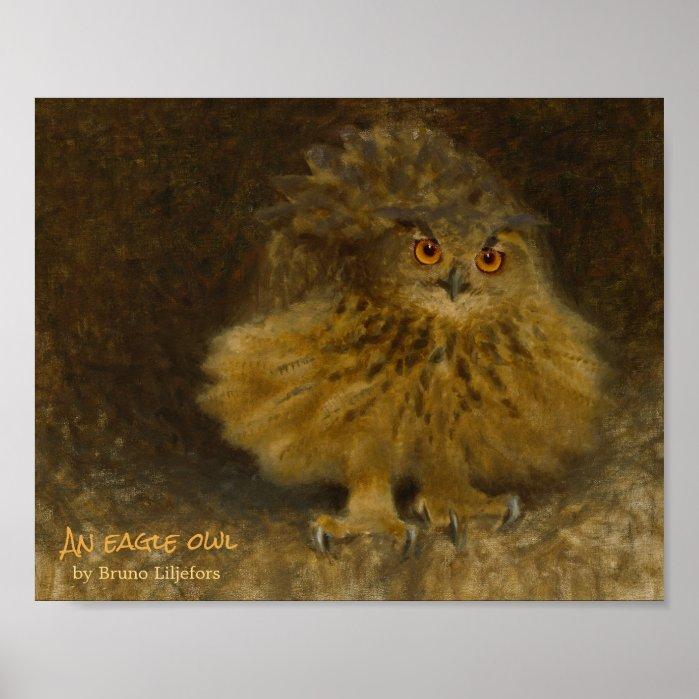 Bruno Liljefors Eagle owl CC0294 Wildlife Poster