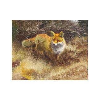 Bruno Liljefors - Fox and Landscape Canvas Print