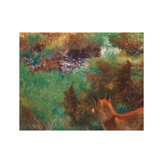 Bruno Liljefors - Fox Stalking Wild Ducks Canvas Print