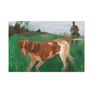 Bruno Liljefors - Gustaf Kolthoff Hunting Canvas Print
