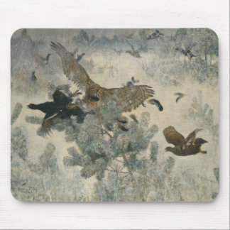 Bruno Liljefors - Hawk and Black-Game Mouse Pad