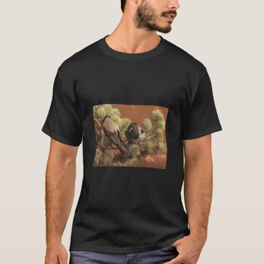 Bruno Liljefors - Hooded Crows 1891  Oil on Canvas T-Shirt