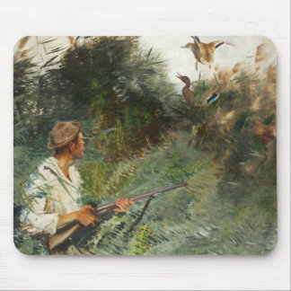 Bruno Liljefors - Hunter and Mallards Mouse Pad