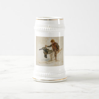 Bruno Liljefors Juvenile Grouse Hunter Study 1924 Beer Stein