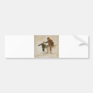 Bruno Liljefors Juvenile Grouse Hunter Study 1924 Car Bumper Sticker