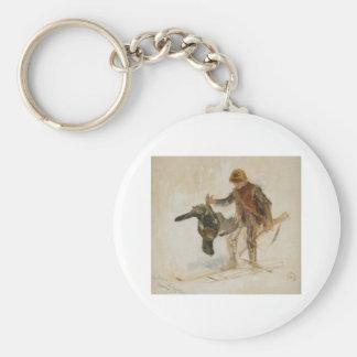 Bruno Liljefors Juvenile Grouse Hunter Study 1924 Keychain